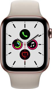 Flipkart offers on Mobiles - APPLE Watch Series 5 GPS + Cellular 44 mm Gold Stainless Steel Case with Stone Sport Band Grey Strap, Regular