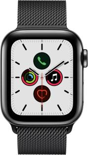 Flipkart offers on Mobiles - APPLE Watch Series 5 GPS + Cellular 40 mm Space Black Stainless Steel Case with Space Black Milanese Loop Black Strap, Regular