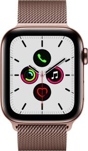 Flipkart offers on Mobiles - APPLE Watch Series 5 GPS + Cellular 44 mm Gold Stainless Steel Case with Gold Milanese Loop Gold Strap, Regular