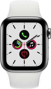 Flipkart offers on Mobiles - APPLE Watch Series 5 GPS + Cellular 40 mm Stainless Steel Case with White Sport Band White Strap, Regular