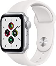 Amazon offers on Mobiles - New Apple Watch SE (GPS, 40mm) - Silver Aluminium Case with White Sport Band