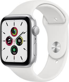 Flipkart offers on Mobiles - APPLE Watch SE GPS + Cellular 40 mm Silver Aluminium Case with White Sport Band White Strap, Regular