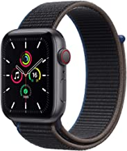 Amazon offers on Mobiles - New Apple Watch SE (GPS + Cellular, 40mm) - Space Grey Aluminium Case with Charcoal Sport Loop