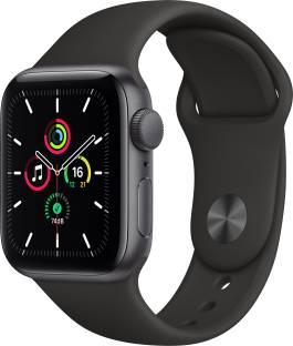 Flipkart offers on Mobiles - APPLE Watch SE GPS 40 mm Space Grey Aluminium Case with Black Sport Band Black Strap, Regular