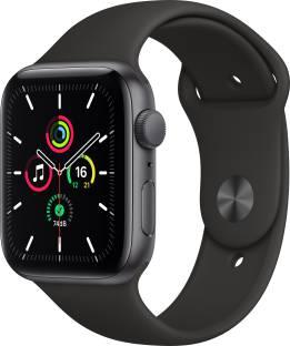 Flipkart offers on Mobiles - APPLE Watch SE GPS 44 mm Space Grey Aluminium Case with Black Sport Band Black Strap, Regular