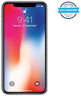 Paytmmall offers on Mobiles - Used Apple iPhone X 3GB 64GB Space Grey (Grade: Excellent)