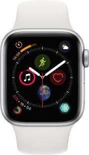 Flipkart offers on Mobiles - APPLE Watch Series 4 GPS 40 mm Silver Aluminium Case with White Sport Band White Strap, Regular