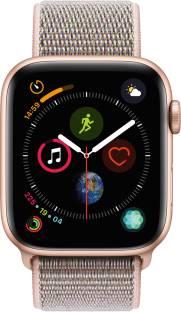 Flipkart offers on Mobiles - APPLE Watch Series 4 GPS 44 mm Gold Aluminium Case with Pink Sand Sport Loop Pink Strap, Regular
