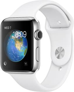 Flipkart offers on Mobiles - APPLE Watch Series 2 - 42 mm Stainless Steel Case with White Sport Band White Strap, Medium
