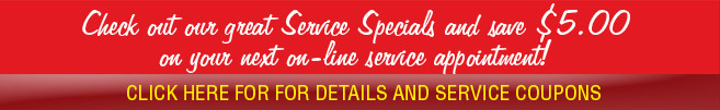 Check out our Service Specials