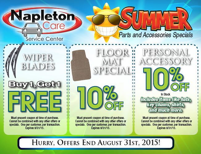 Parts Department Coupons, Specials - Shop Napleton