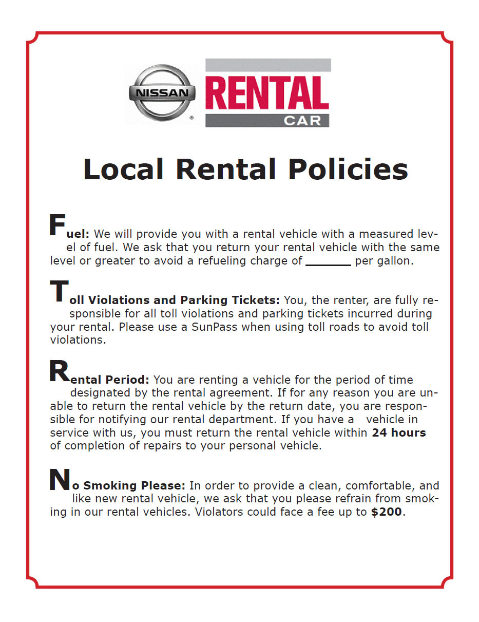 Why Rent From Preston Nissan?