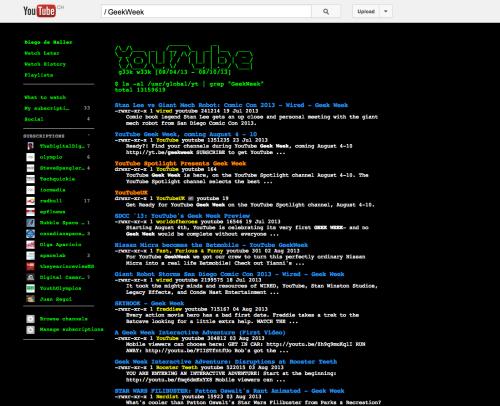 """si ponéis """"/ GeekWeek"""" sin las comillas y con el espacio entre la barra y la G, sale esto."""
