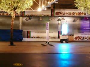 Robot Sam desinfecteert de Oosterse Markt