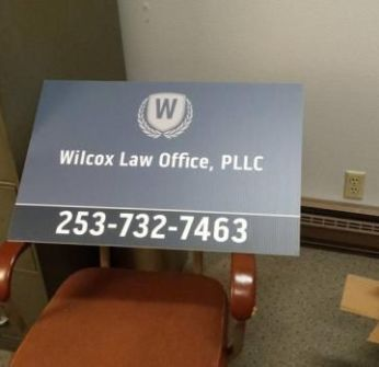 Wilcox Law Office, PLLC sign