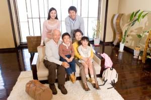 Family photo with grandparents and grandchildren