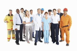 Group of workers of different occupations