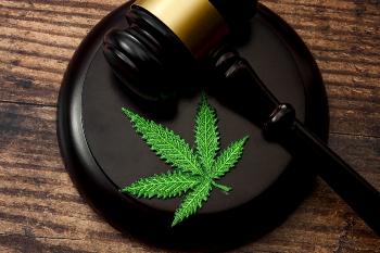 Marijuana Leaf on a Gavel