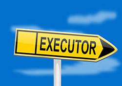 """Signing that says """"executor"""""""