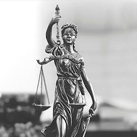 Lady of justice holding scales