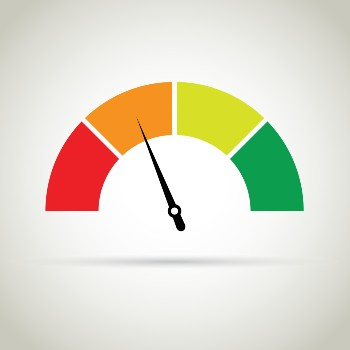 Credit score meter in the poor section