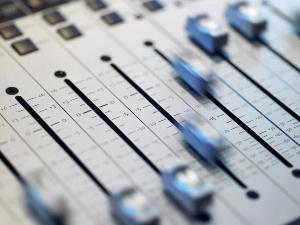 Sound machine board with sliding adjustments