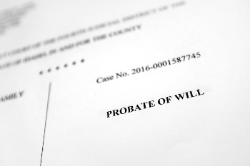 Case File for a Probate of Will