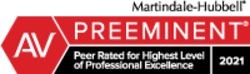 Martindale-Hubbell Peer Rated for Highest Level Of Professional Excellence 2021