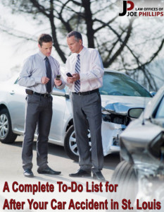 Two men in suits with phones out standing in front of cars