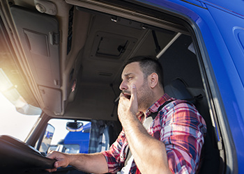 Yawning truck driver