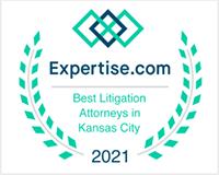 Expertise.com Best Litigation Attorneys in Kansas City 2021 badge