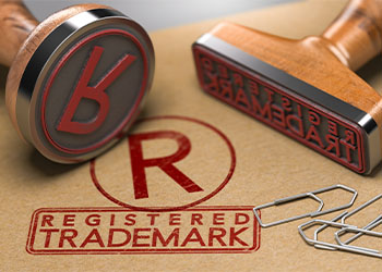 Folder with registered trademark stamped on it