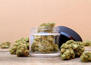 Marijuana in Glass Jar