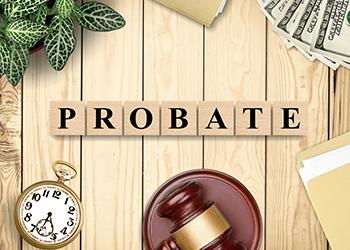 Letter tiles that spell Probate