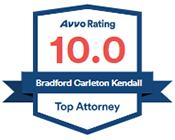 Avvo Rating 10.0 Bradford Carleton