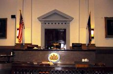 Judge's Stand in a courtroom