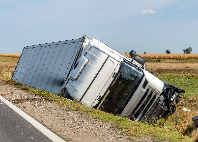 Truck Falling Over