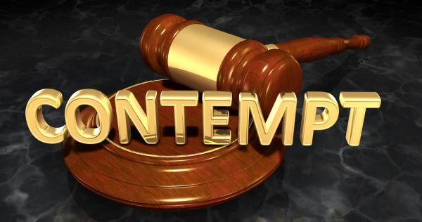 """Gavel behind the words - """"Contempt"""""""