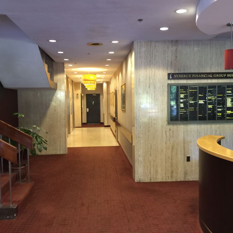 Office Hallway, staircase, and directory