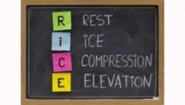 rice, terapia, distorsione, trauma