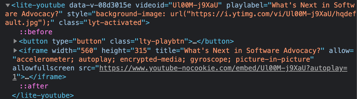 html showing iframe