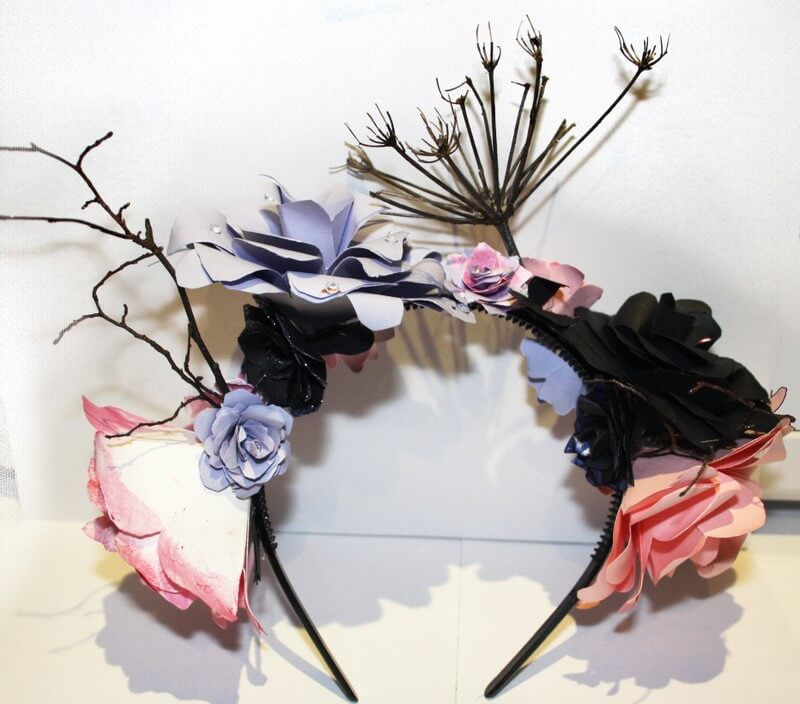 Pink , Purple and Black Headband