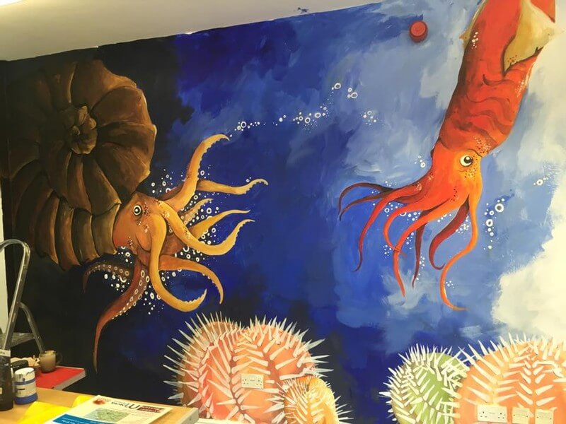 Prehistoric Marine Life Wall