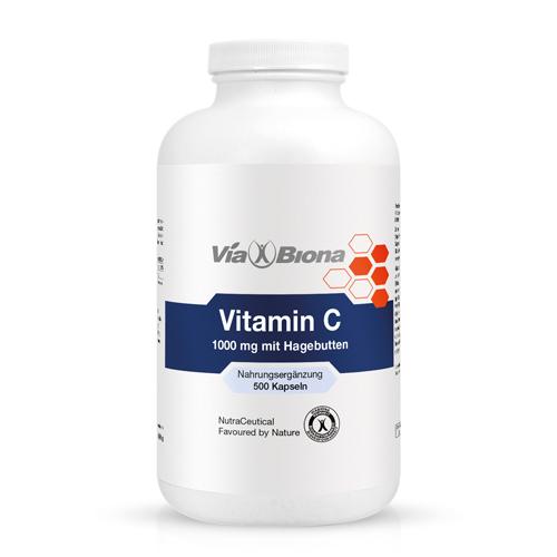 Vitamin C mit Hagebutten