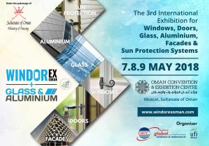 3rd Edition Windorex + Glass & Aluminium Exhibition, 2018, Oman