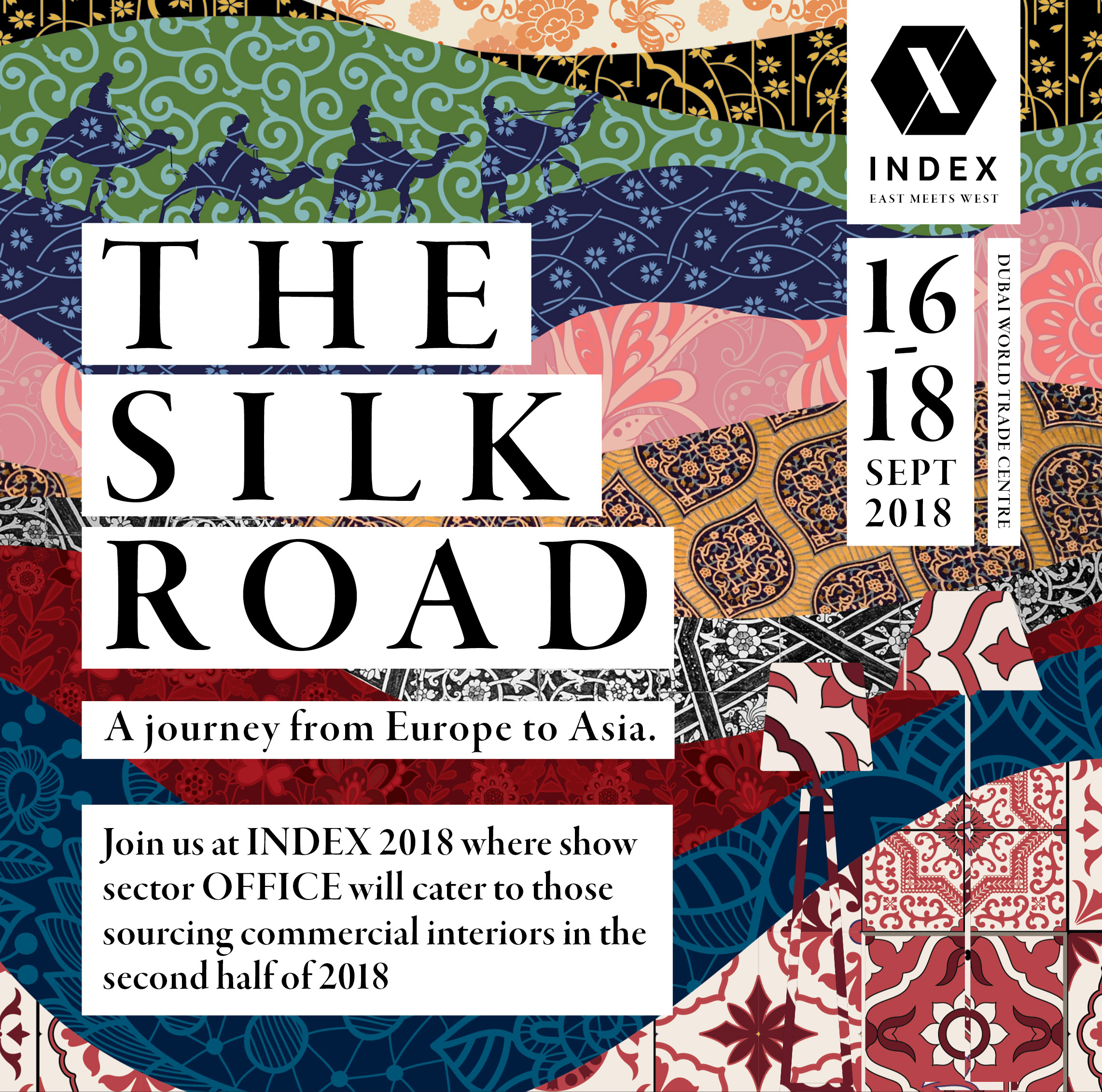 "INDEX is coming back for a second edition in 2018 with a twist – A ""Silk Road"" theme where ""East Meets West"""