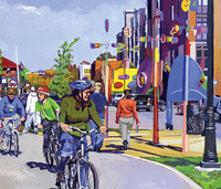 Street View: Bloomington Scenes by Tom Rhea, Artist   gallery406