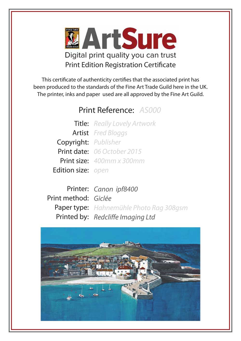 Limited edition prints your fine art giclee print editions produced by redcliffe imaging can also be registered with the artsure scheme this gives you and your customer yelopaper Images