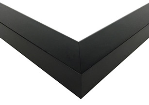 Contemporary Black Satin Picture Frame