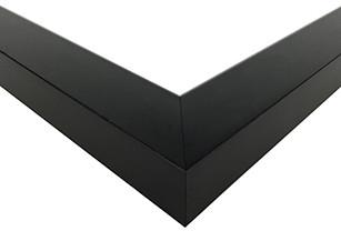 Contemporary Black Satin Picture Frame